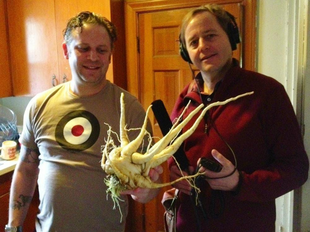 Ready to cook parsnips. (Dina Rosendorff/WBUR)