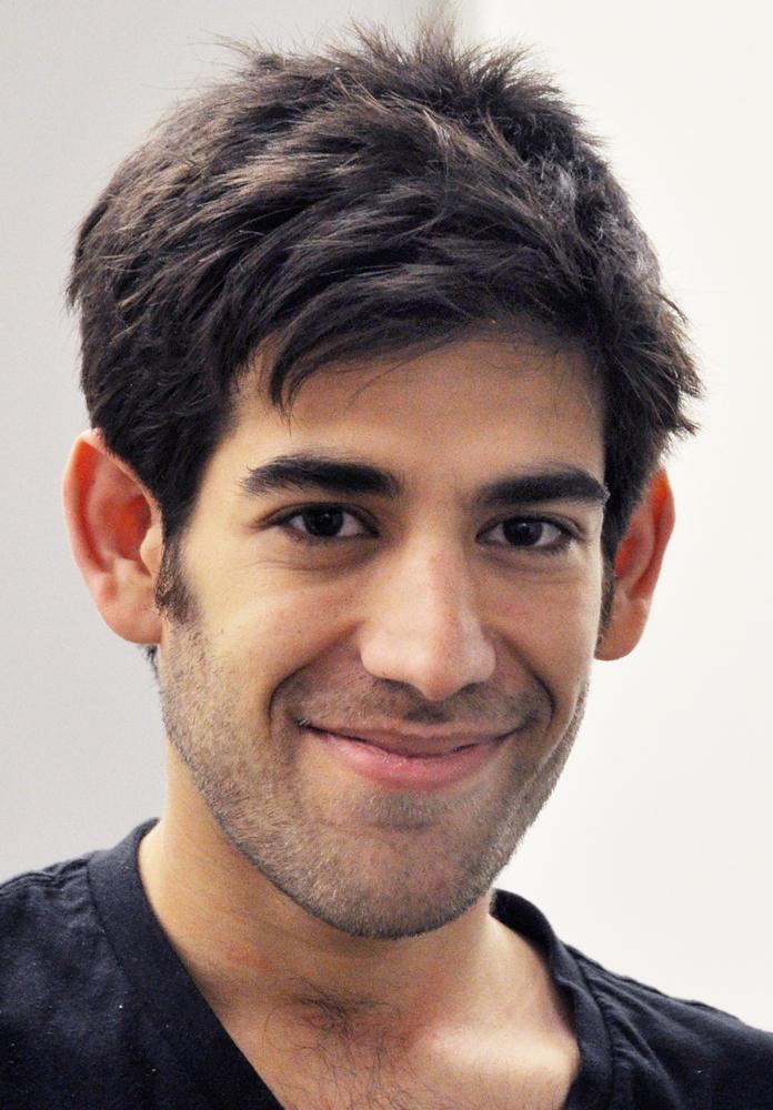 This Dec. 8, 2012 photo provided by ThoughtWorks shows Aaron Swartz, who hanged himself Friday, Jan. 11, 2013, in New York City. (ThoughtWorks, Pernille Ironside/AP)