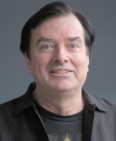 "Steve Morse teaches ""Rock History"" at Berklee College of Music. (Robin Lubbock/WBUR)"