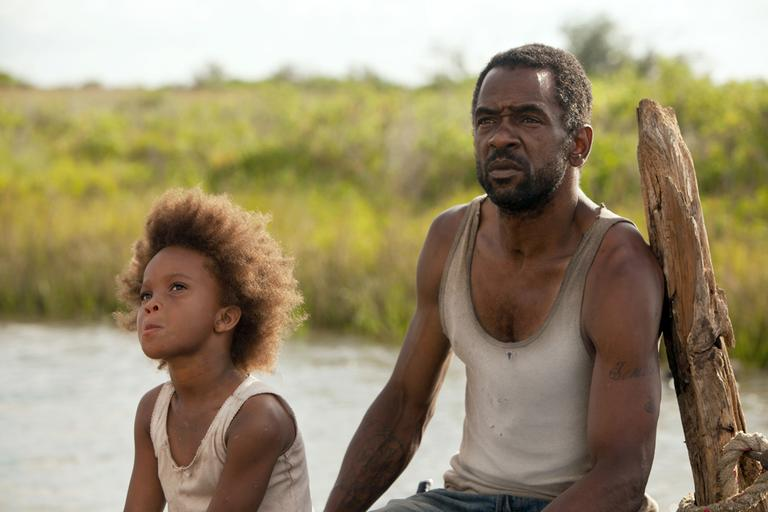 "Quvenzhane Wallis as Hushpuppy, left, and Dwight Henry as Wink in a scene from, ""Beasts of the Southern Wild."" (Jess Pinkham/Fox Searchlight Pictures/AP)"