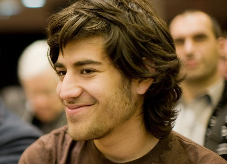 Aaron Swartz at a Creative Commons event in 2008. (Fred Benenson/Wikimedia Commons)
