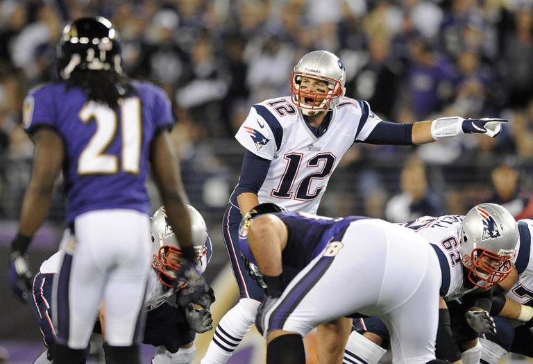In September, the Patriots lost to the Ravens 31-30. The two teams meet again Sunday for the AFC Championship. (Nick Wass/AP)