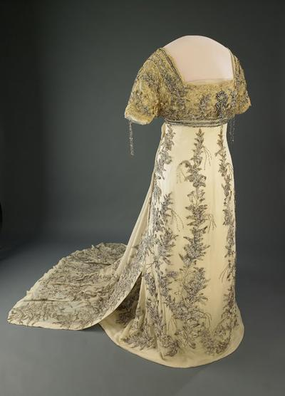 The museum's collection began when Helen Taft donated this gown, which she wore to her husband William Howard Taft's 1909 inauguration. (National Museum of American History)
