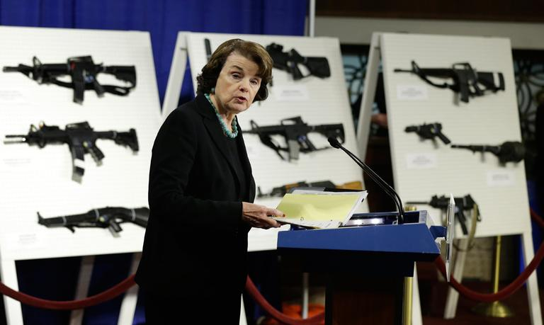 Sen. Dianne Feinstein, D-Calif. speaks during a news conference on Capitol Hill in Washington, Thursday, Jan. 24, 2013, to introduce legislation on assault weapons and high-capacity ammunition feeding devices. (Manuel Balce Ceneta/AP)