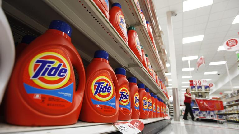 Procter & Gamble's Tide detergent is displayed at a Target store in Richmond, Va. (Steve Helber/AP)