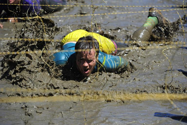 A man participates in a Tough Mudder event in Pennsylvania, in April 2012. (Flickr/The 621st Contingency Response Wing)