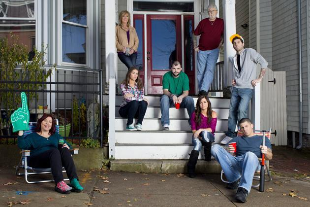 "The family members who star in the new reality series ""Southie Rules"" are pictured in a promotional photo. (A&E)"