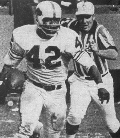 Butch Byrd in his first season with the Buffalo Bills, 1964, when the team went on to win the first of two consecutive AFL championships (Courtesy)