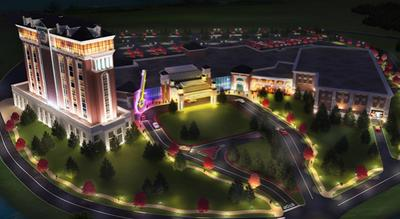 Rendering of Hard Rock's proposed West Springfield casino