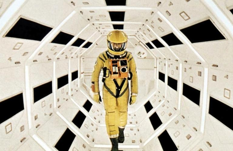 """Keir Dullea in """"2001: A Space Odyssey."""" (Courtesy Warner Bros. Entertainment Inc./ The Stanley Kubrick Archive}"""