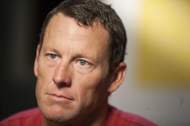 "This Feb. 15, 2011, file photo shows Lance Armstrong during an interview in Austin, Tx. Attorneys for Armstrong have demanded an on-air apology from ""60 Minutes"" after the head of Switzerland's anti-doping laboratory denied allegations the seven-time Tour de France winner tested positive for performance-enhancing drugs at the 2001 Tour de Suisse. (AP Photo/Thao Nguyen, File)"