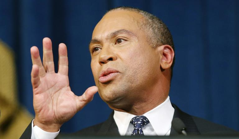 Gov. Deval Patrick delivers his State of the State address Wednesday. (Michael Dwyer/AP)