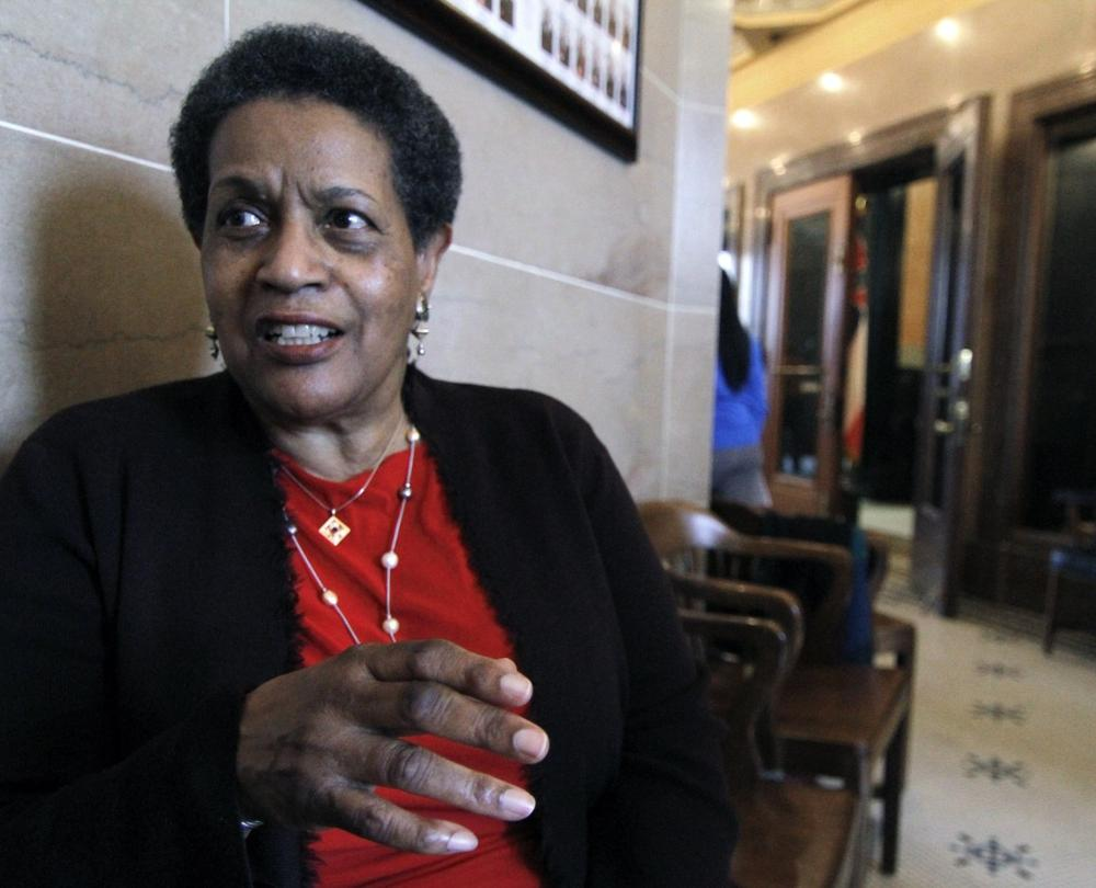 Myrlie Evers-Williams, pictured here in 2011, will deliver the invocation at President Barack Obama's second inauguration. (Rogelio V. Solis/AP, File)