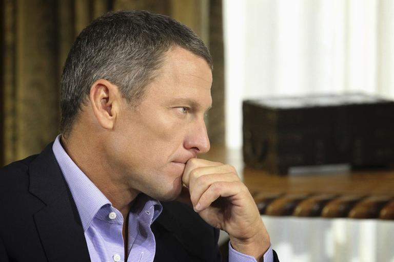 Lance Armstrong listens to a question from Oprah Winfrey. (AP/Harpo Productions)