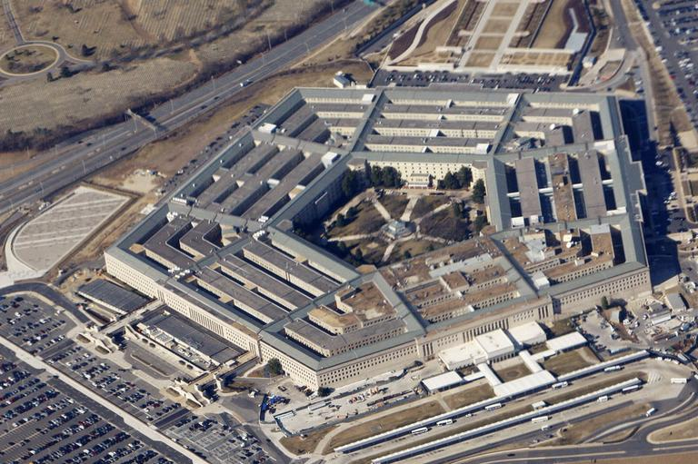 The Pentagon, seen from Air Force One. (AP)