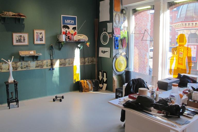 Rob Rovenolt's Cuban man cave installation at the Boston Center for the Arts (Andrea Shea/WBUR)