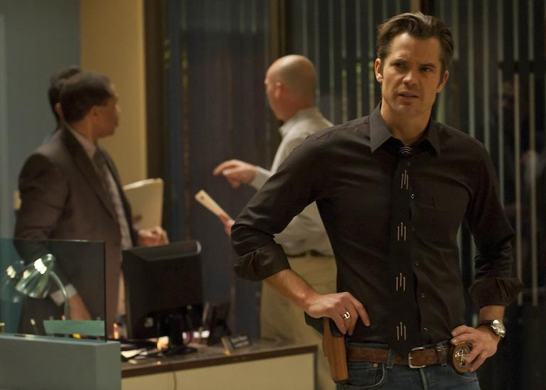 "Timothy Olyphant as U.S. Marshal Raylan Givens in ""Justified"" (Photos courtesy of AP and FX / Prashant Gupta)"