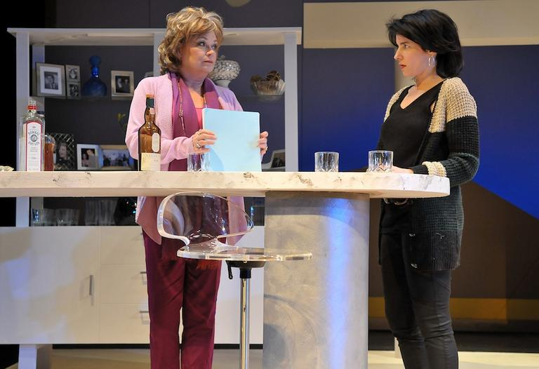 "Polly (Karen MacDonald) tells her daughter (Anne Gottlieb) what she thinks of her memoir in ""Other Desert Cities."" (Craig Bailey/Perspective Photo)"