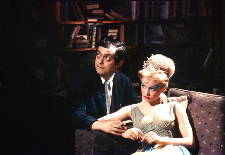 "Stanley Kubrick and Sue Lyon on the set of ""Lolita."" (Courtesy of Metro-Goldwyn-Mayer/The Stanley Kubrick Dollection/Alex Singer)"