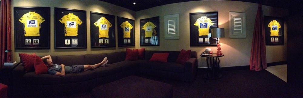 Lance Armstrong tweeted this picture of him with his Tour de France yellow jerseys in November shortly after the U.S. Anti-Doping Agency stripped him of his titles.