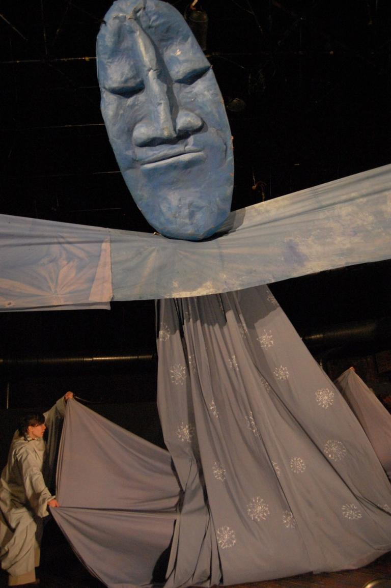 "The Sky puppet in Bread and Puppet Theater's ""The Possibilitarians."" (Greg Cook)"