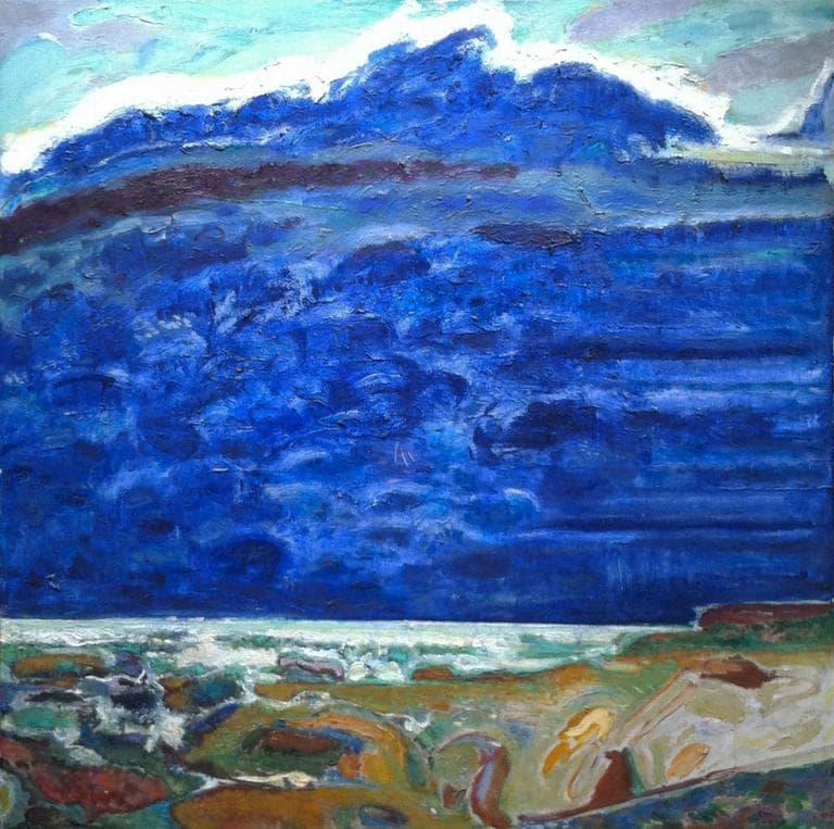 "Bernard Chaet's 2008 painting ""Blue."" (Courtesy of Alpha Gallery)"