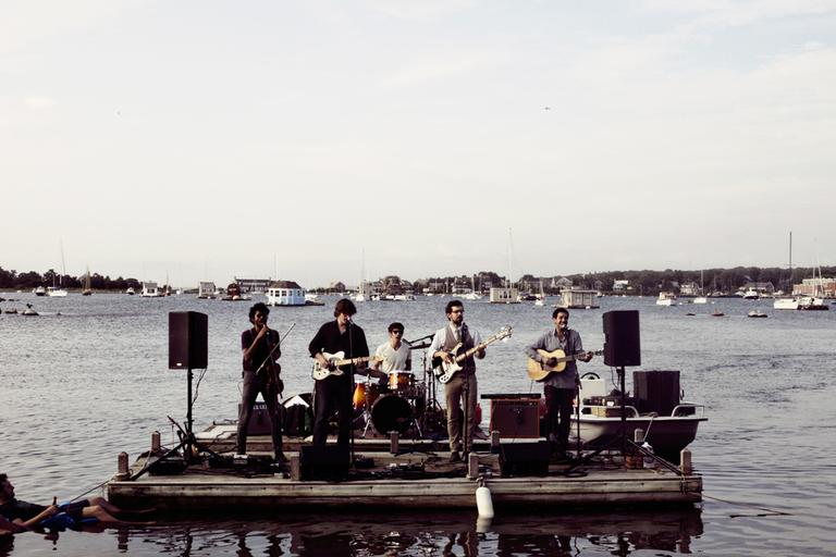 Darlingside performs at Woods Hole August 2012. (Mike Lavoie)