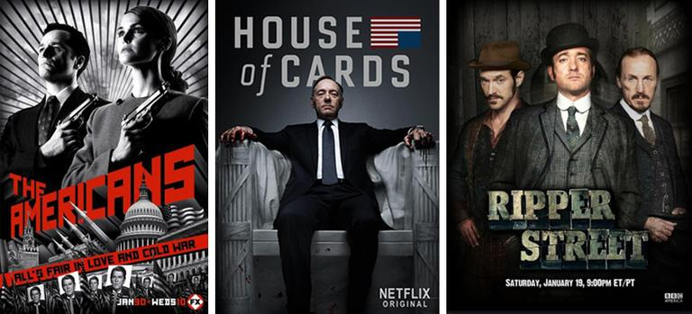 Winter TV line up: The Americans, House of Cards and Ripper Street.