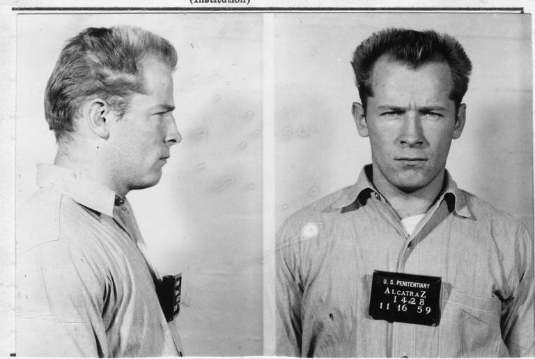 "After being linked to escape plots, James ""Whitey"" Bulger was banished to Alcatraz prison in 1959. (Reprinted with the permission of W. W. Norton and The Boston Globe)"