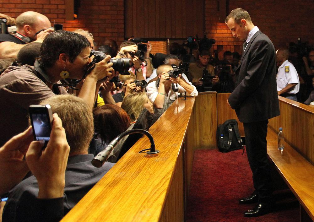 South African Olympian Oscar Pistorius has been granted bail after being charged with themurder of his girlfiriend. (Themba Hadebe/AP)
