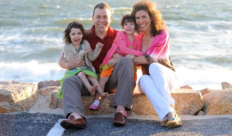 Author Bruce Feiler and his wife Linda with their daughters. (Courtesy Kelly Hike)