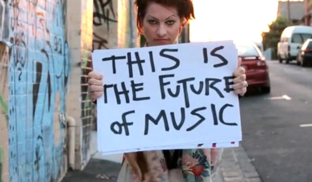 A screenshot of Amanda Palmer's pitch video from Kickstarter. (Kickstarter.com)