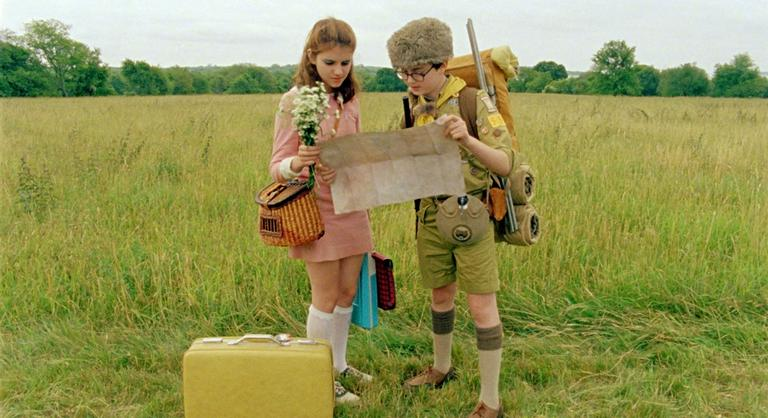 A scene from Moonrise Kingdom.