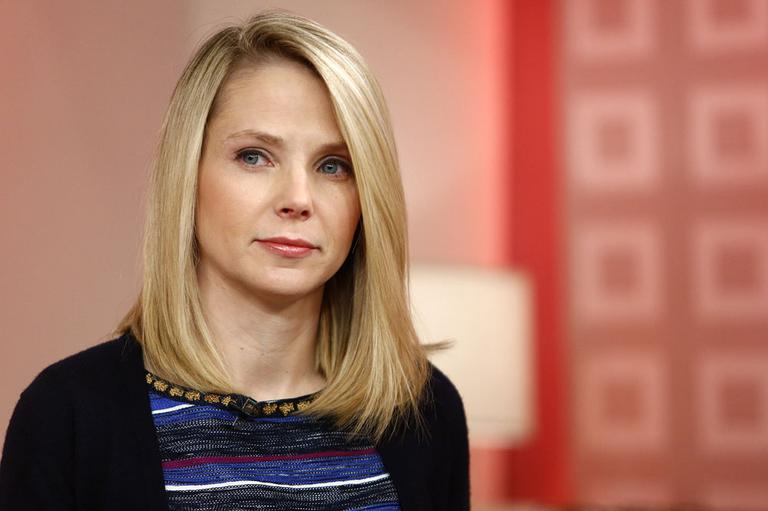 "This image released by NBC shows Yahoo CEO Marissa Mayer appearing on NBC News' ""Today"" show, Wednesday, Feb. 20, 2013. (AP)"