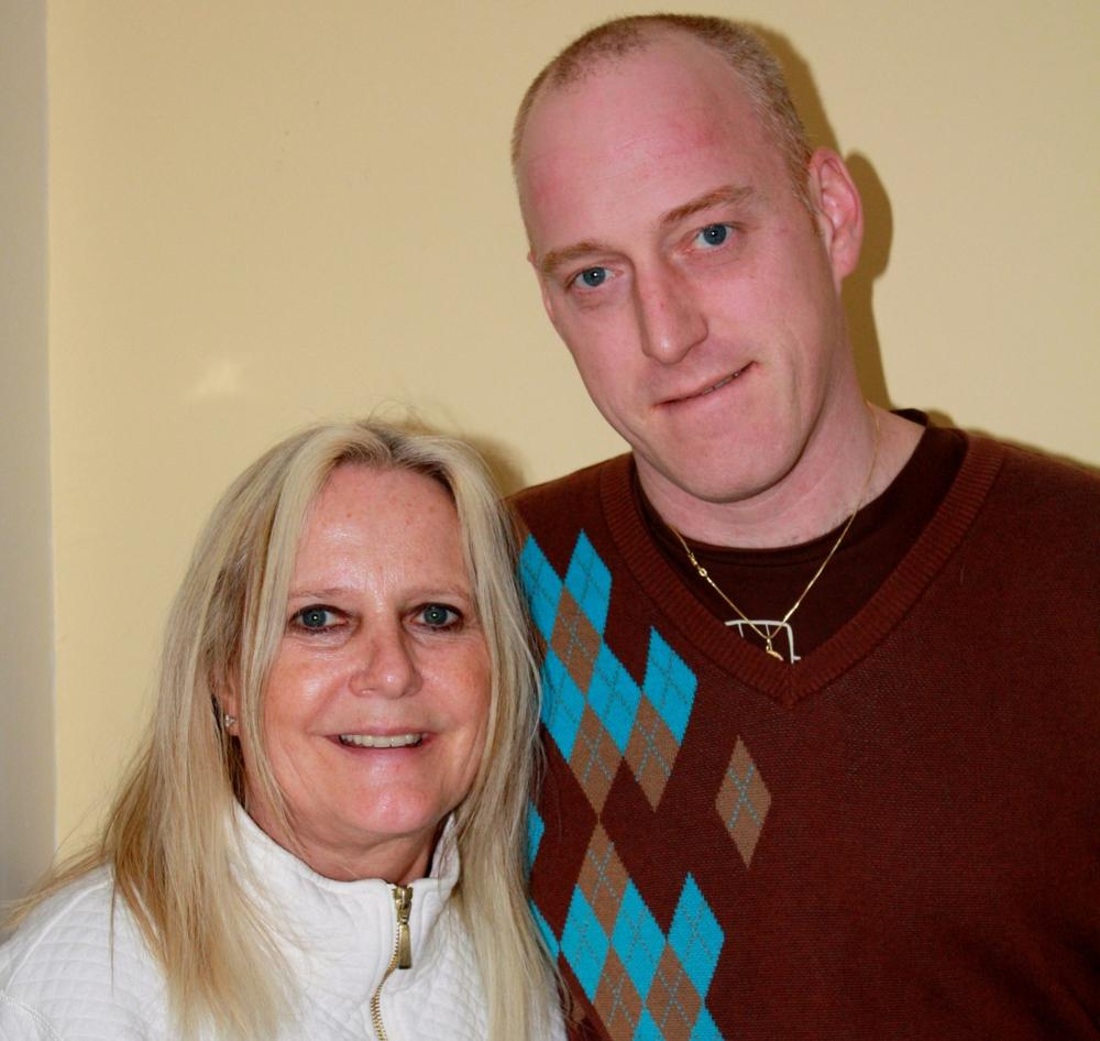 Chris, diagnosed with Bipolar Disorder and Schizoaffective Disorder, is now a grad student at the University of New Hampshire. Here he is with his mother Eileen, who fought mightily to get him adequate mental health treatment. (Photo: Courtesy)