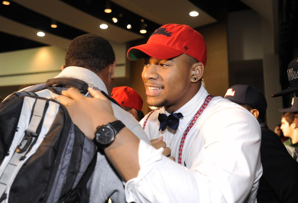On Wednesday, the country's top ranked recruit Robert Nkemdiche signed on to play football at Ole Miss. But not all recruits were able to successfully commit to a program on National Signing Day. (David Tulis/AP)