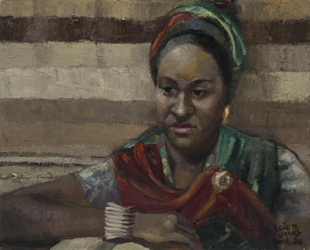 """Loïs Mailou Jones """"Jeanne, Martiniquaise,"""" 1938, oil on canvas (Courtesy of the Museum of Fine Arts)"""