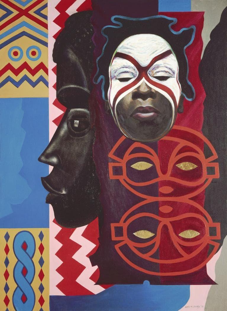 "Loïs Mailou Jones ""Ubi Girl from Tai Region,"" 1972, acrylic on canvas (Courtesy of the Museum of Fine Arts, Boston)"
