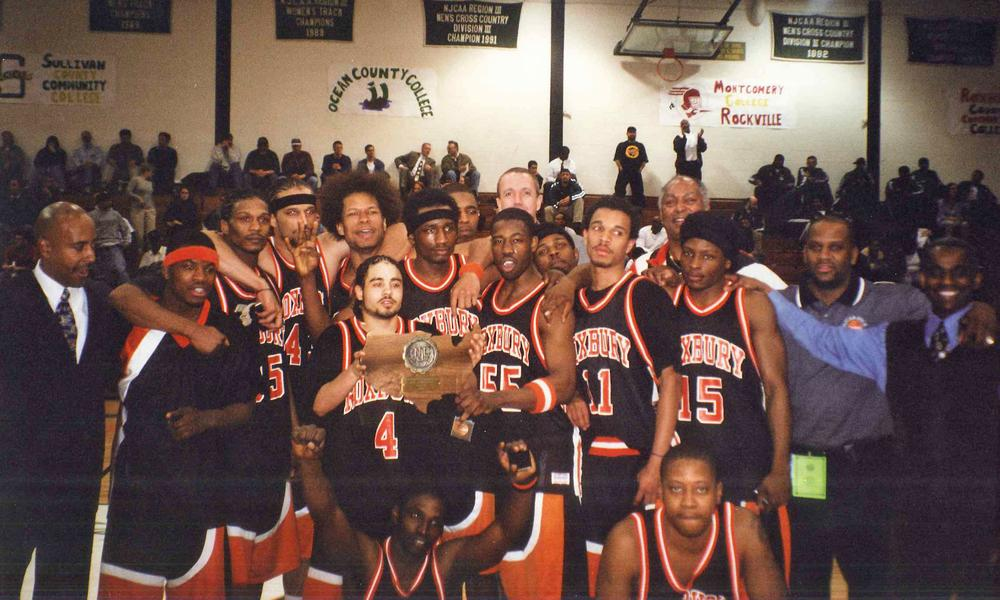 The Roxbury Community College team at the 2001 Division III National Tournament. (Courtesy Photo)