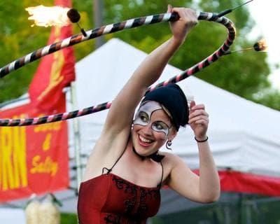 A hooper performs at the Flagstaff Hullabaloo in Arizona. (Rick Johnson)