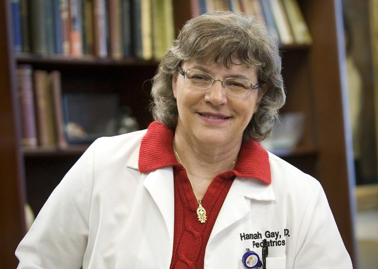 Dr. Hannah Gay, a pediatric HIV specialist at the University of Mississippi, is pictured in March 2013. (Jay Ferchaud/University of Mississippi Medical Center/AP)
