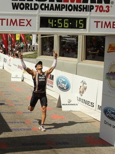 Sami Inkinen is pictured at the 2011 Ironman 70.3 World Championship triathlon. (www.samiinkinen.com)