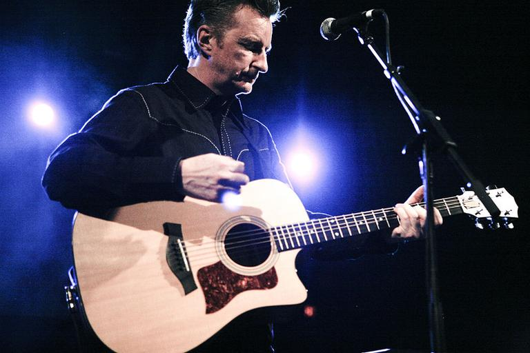 Billy Bragg performs at South by Southwest music festival in 2008. (Kris Krug/Wikimedia Commons)