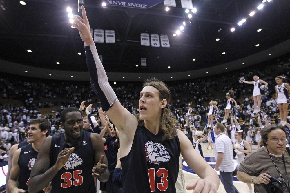 Junior Kelly Olynyk has played a critical role in Gonzaga's ascent to the top of the national polls. So far this season, the seven-footer is averaging 17.7 points and 7.0 rebounds per game. (Rick Bowmer/AP)