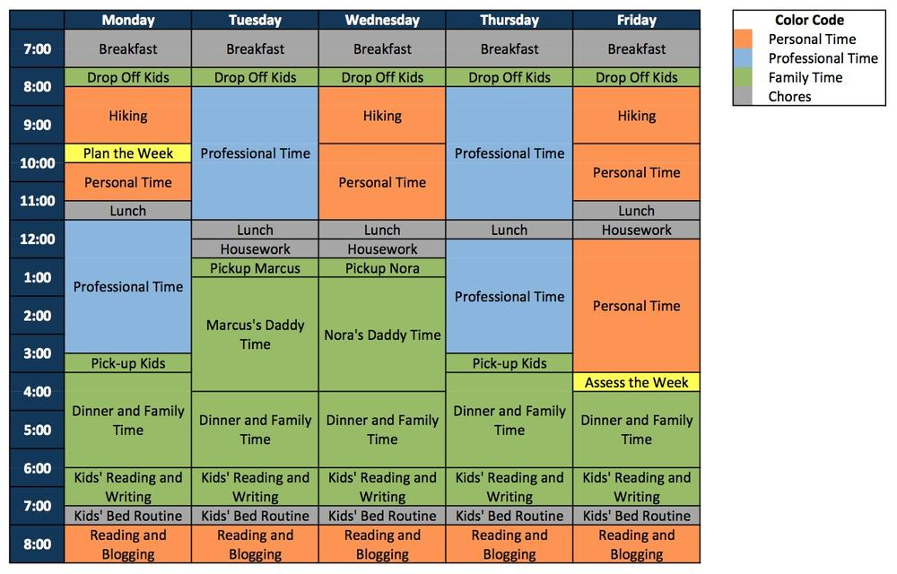 Click to enlarge: See Winston Chen's schedule to make the hours of arctic freedom productive. (Courtesy of Winston Chen)
