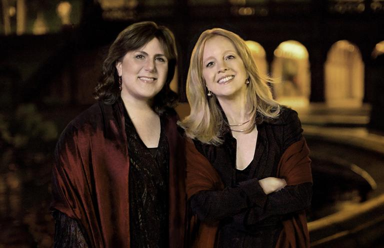 "Soprano Dawn Upshaw, left, and composer Maria Schneider, right, have collaborated on a new album called ""Winter Morning Walks."" (Jimmy and Dena Katz)"
