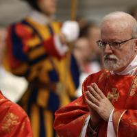 Boston Cardinal Sean O'Malley attends a Mass inside St. Peter's Basilica, at the Vatican, March 12, 2013. (Andrew Medichini/AP)