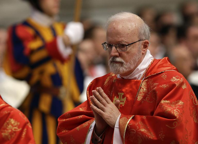 Cardinal Sean O'Malley attends a Mass for the election of a new pope celebrated by Cardinal Angelo Sodano inside St. Peter's Basilica, at the Vatican on Tuesday. (Andrew Medichini/AP)