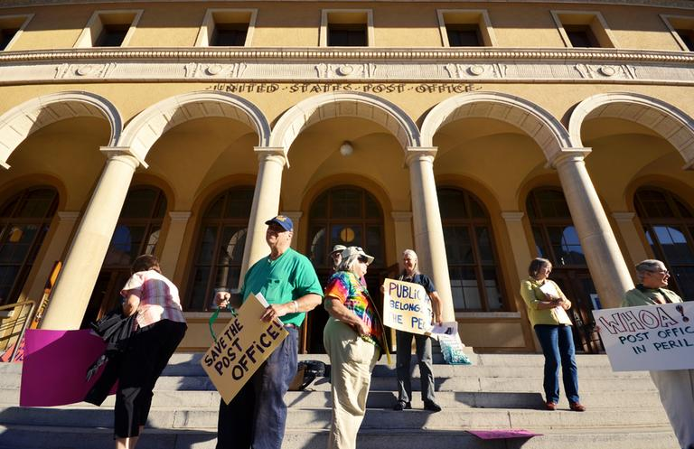 Berkeley, Calif., residents protest outside Berkeley Main Post Office in July 2012. (Daniel Parks/Flickr)