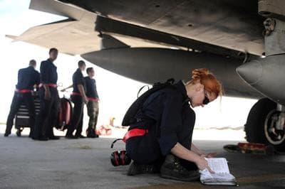 Airman 1st Class Jessica Hinves. (Courtesy Cinedigm/Docurama Films)